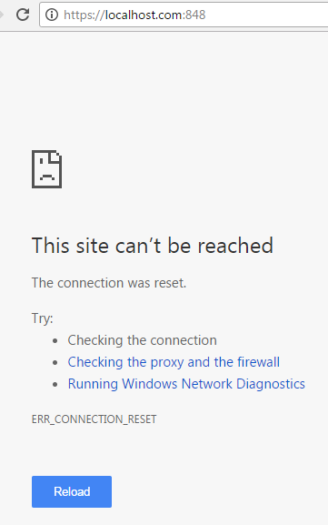 How to fix the «ERR_CONNECTION_RESET» failure? - Oro Platform
